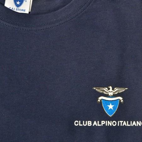 Dettaglio T- Shirt Classica Uomo (blu navy)