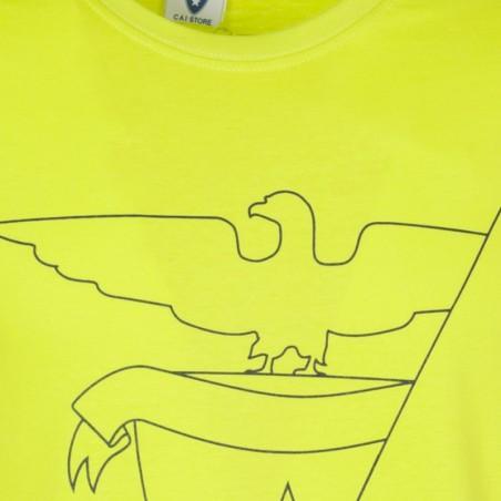 Dettaglio T-Shirt Aquila 2016 Donna (verde acido)