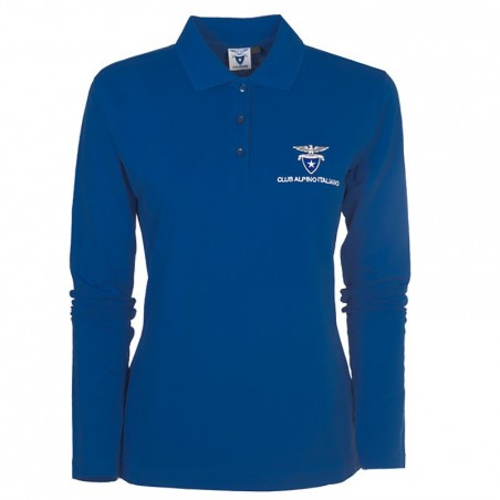 Polo Manica lunga (blu royal)